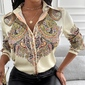 Blusa camisa vintage estampada