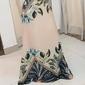Vestido longo elegante estampado