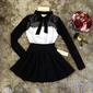 Vestido preto e branco vintage