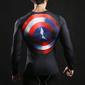 Camisas manga longa do Superman e Capitão América