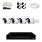 Kit DVR 4 Canais + 4 Câmeras+ Cabo + Fonte + Conectores