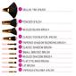 Kit 11 pincéis poá para maquiagem BH Cosmetics -  ORIGINAL