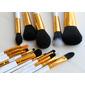 Kit 15 pincéis Profissionais WHITE/Gold Jessup