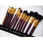 Kit 15 pincéis Profissionais Purple/Gold Jessup