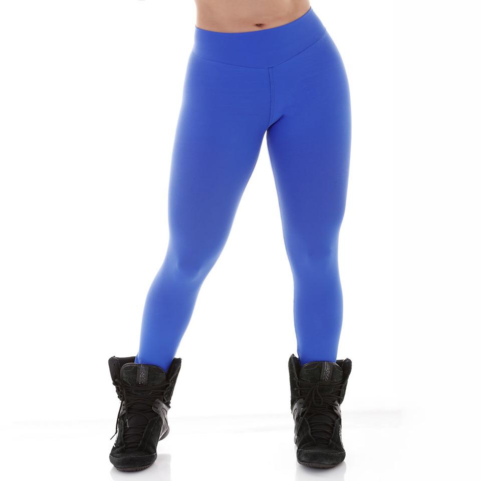 b12f6cfb5 Calça Legging Fitness Em Poliamida - Azul Bic - Beca Fit