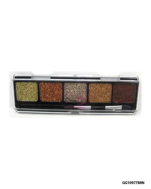 Sombra Cintilante Brown 5 Pack Eye Glitter Set - Almar Simply Sweet