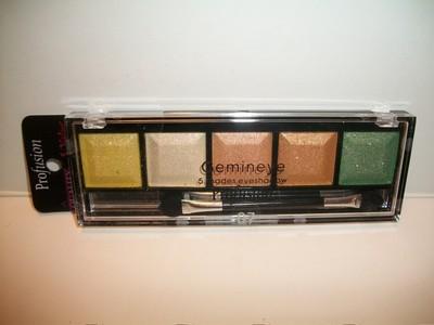 Profusion, Sombra Brilhante Gemineye,  5 Shades Eyeshadow Palette, #7, 8g.