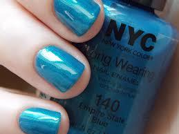 NYC,  New York Color Long Wearing Dry Nail enamel 140  Empire State Blue