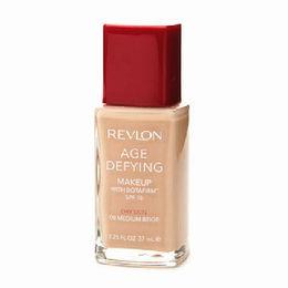 Revlon, Base Facial para o Rosto Age Defying   SPF 15, com Botafirm, 37ml., Dry Skin, 08 Medium Beige