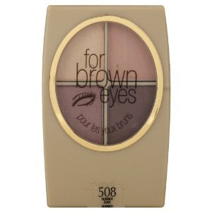 L'oreal Sombra Wear Infinite Eyeshadow Quad, 4.8g., 508 summer dusk