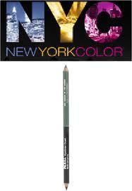 NYC Lápis Delineador para Olhos e Sobrancelhas Dueto , 884 A Place in the Sun, Preto e Marron 18cm, 1.075g