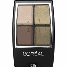 L'Oreal sombra Paris Wear Infinite Eyeshadow Quad,   306 Forest Light, 4.8g