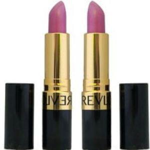 Revlon Batom Superlustrous Lipstick Creme 455 paparazzi pink e 465 plumalicious