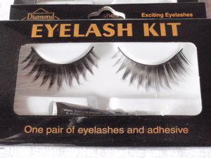 Cílios Postiços Eyelash Kit - Um Par com  Adesivo, Exciting Eyelash - Diamond