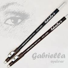 Lapis Delineador para olhos , com apontador, Eyeliner & Sharpener- Gabriella