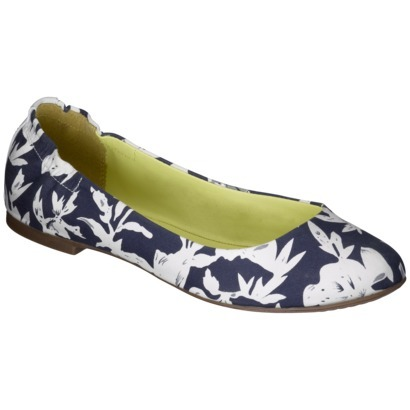 Sapatilha Women's Mossimo Supply Co. Ona Scrunch Ballet Flat - Navy Print