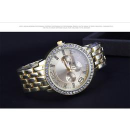 Relógio Fashion Gold Rhinestone  Quartzo  analógico