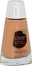 Covergirl,  base facial Clean Normal Skin natural Beije 140,  30ml