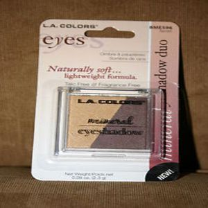 L.A.Colors, Sombra Eyes Mineral Eyesshadow,  Duo  Secret BME 596