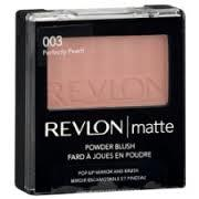 Blush compacto com Espelho, Matte Powder Blush, 51g, 003 Perfectly Peach - Revlon