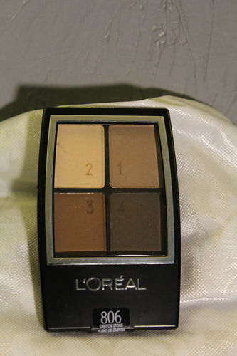 L'Oreal, sombra Paris Wear Infinite Eyeshadow Quad, 806 Canyon Stone,4.8g.