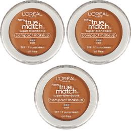 L'Oreal Paris Pó compacto Facial-True Match Super-Blendable- C6 oil free, Cool SPF17