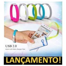 Pulseira Cabo Micro USB ( Samsung, LG, Nokia, Motorola )