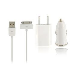 Kit Carregador Veicular + Energia Iphone 4/4S, Iphone 3/3GS.