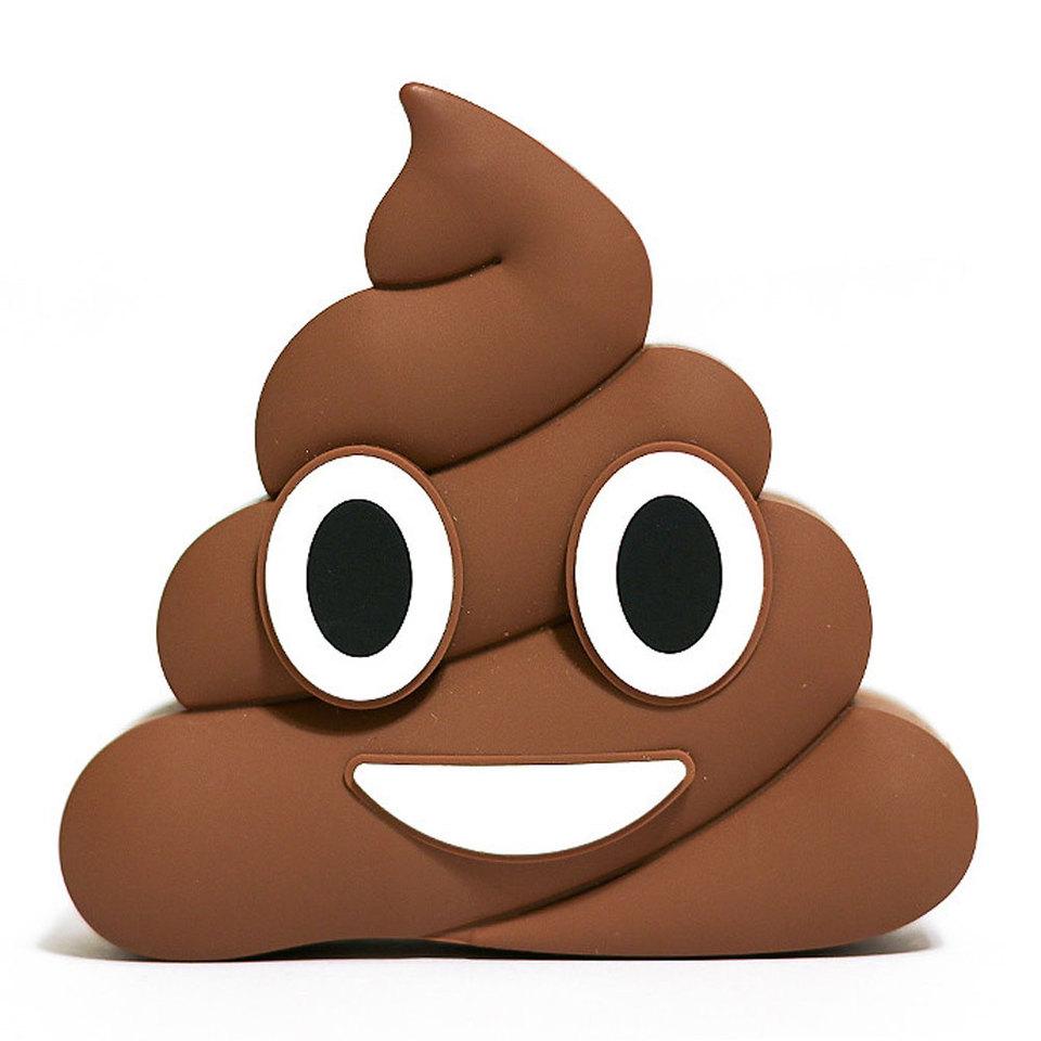 Carregador Portátil Emoji Poop Coco