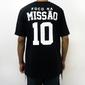 """Camiseta """"FNM 10 Baseball"""" aberta - Preta"""