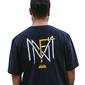Camiseta FNM Monograma - Azul marinho