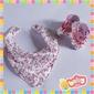 Kit Scarpin + Babador - Floral Rosa (KS+BS)