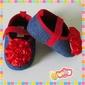 Sapatinhos com Velcro - Jeans (FA04)