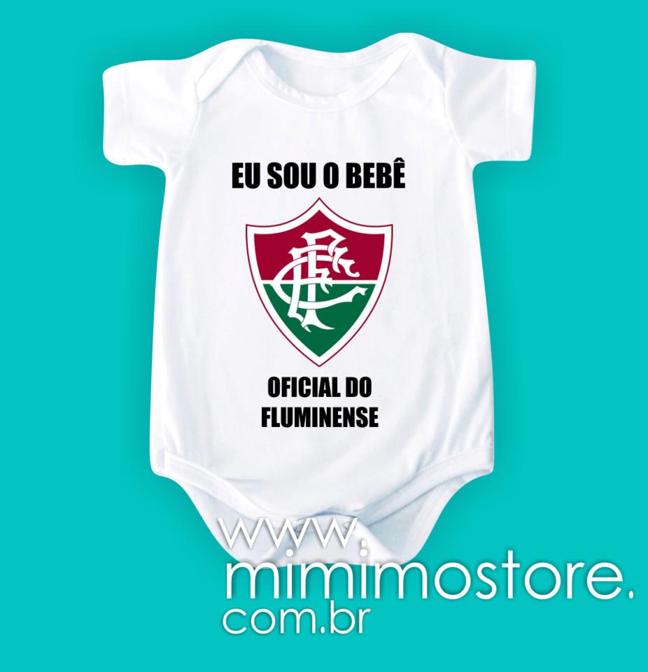 a852f6d6ab753 Body Eu sou o bebê oficial do Fluminense - Mimimô