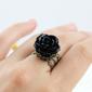 Anel Rosa Negra Gothic