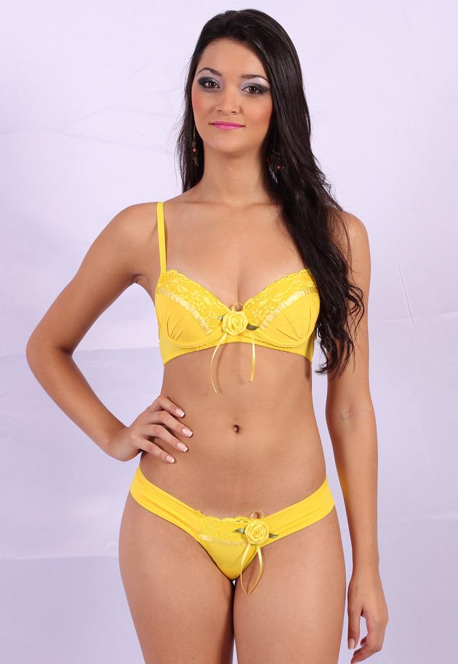 57764277f ... Conjunto de lingerie em microfibra com drapeado e renda Ana ...