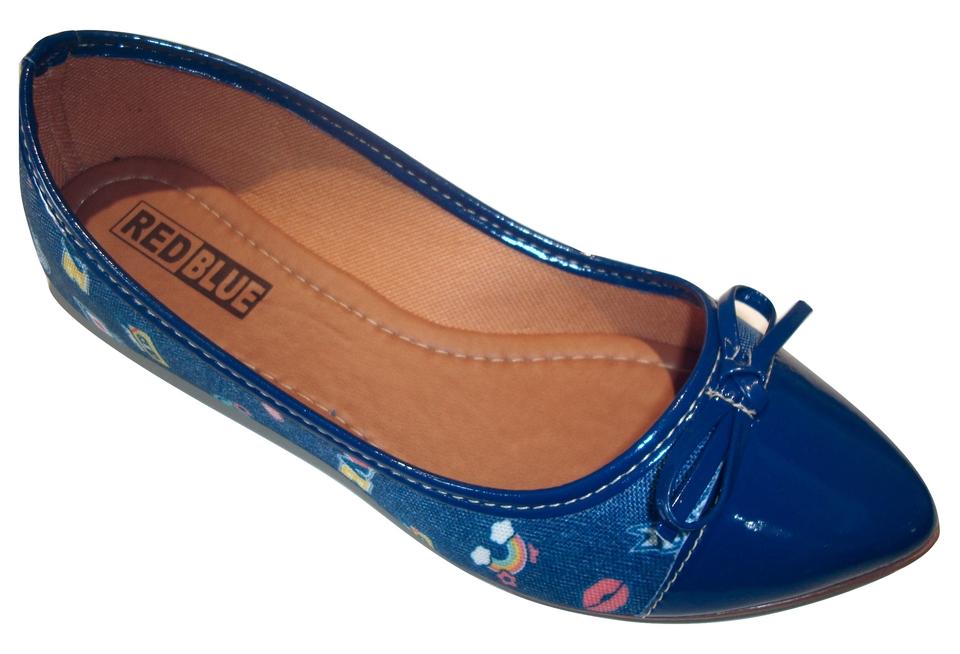 a73317fa8 Comprar. Sapatilha RED BLUE Conforto Montreal Bico Fino Azul Estampa Beijo  - Atacado ...