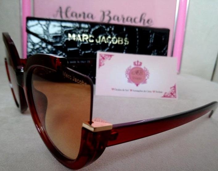 97a4f8ab02e0d Óculos Marc Jacobs Gatinho Marrom - AB Shopp