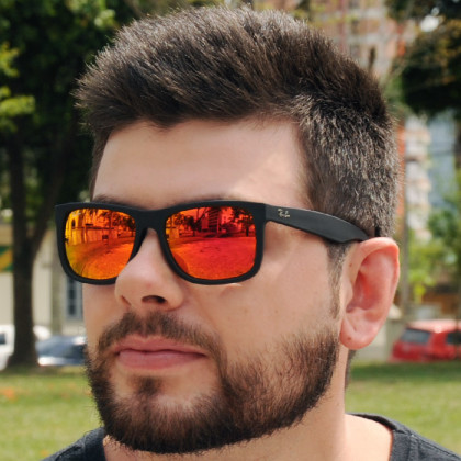 Ray-ban Justin Vermelho Espelhado - AB Shopp 7272dfdb38