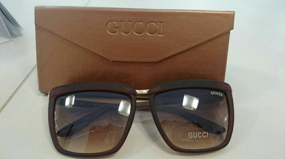 59b6b9d8a Óculos Gucci Quadrado Marrom ♡ - AB Shopp