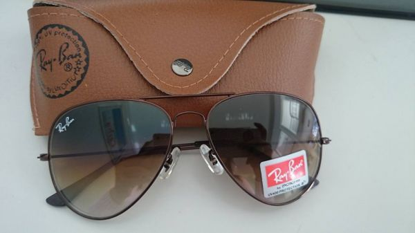 f1c23c59839c2 Ray-Ban Aviador Marrom Unissex - AB Shopp