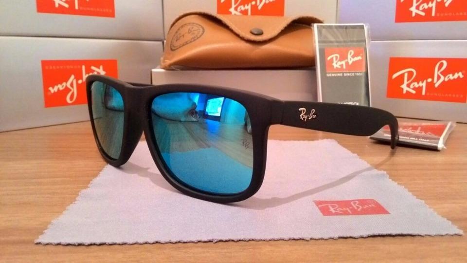 Ray-Ban Justin Azul Espelhado - AB Shopp 2e3f8cb0b6