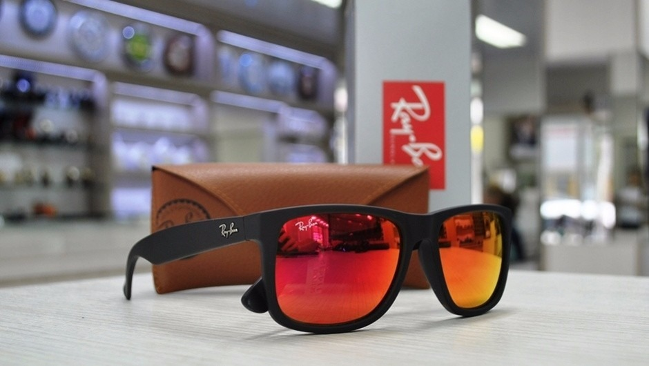 Ray-ban Justin Vermelho Espelhado - AB Shopp 40fd4e3328