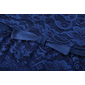 Vestido madrinha longo azul laço