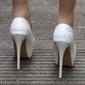 Sapato Branco Renda salto 12 cm