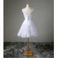 Vestido curto noiva e debutante pérolas