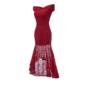 Vestido Festa Mullet Vermelho