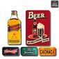 Composição 9 Quadros Bar| Boteco, Espaço Gourmet