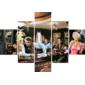 Quadro Painel Mosaico | Marilyn James Dean Elvis Presley