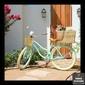 Quadro Bicicleta Verde Flores